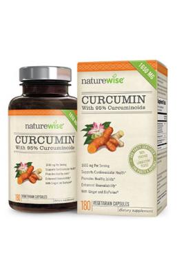 Curcumina Tumeric Naturewise Orgánica (1650 Mg) 180 Pastillas