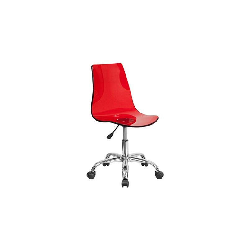 Silla en flash furniture acrilico transparente para oficina for Sillas de acrilico